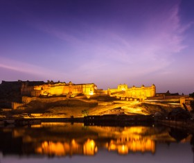 Famous buildings and tourist attractions in India Stock Photo 02