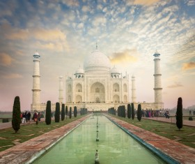 Famous buildings and tourist attractions in India Stock Photo 04