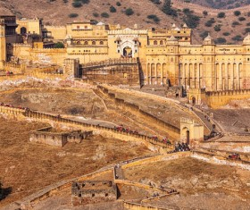 Famous buildings and tourist attractions in India Stock Photo 16