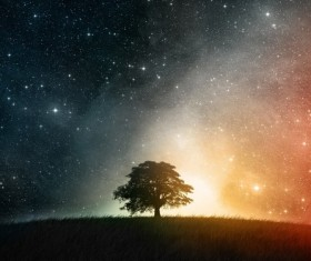 Fantasy Starry Sky Stock Photo