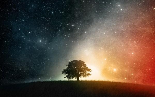 Fantasy Starry Sky Stock Photo