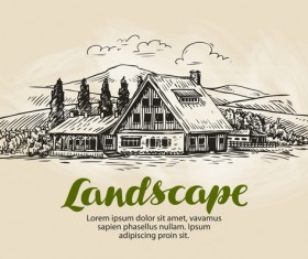Farming hand drawing background vectors 09