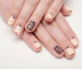 Fashion painted nail Stock Photo