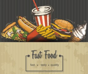 Fast food ad template vector