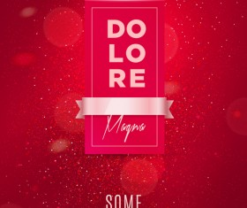 Festive card red template vector