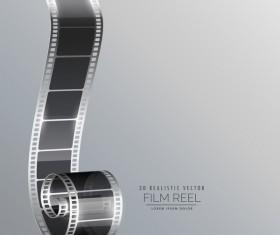 Film reel 3D realistic vector background 03