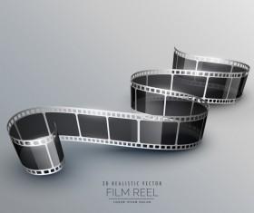 Film reel 3D realistic vector background 12