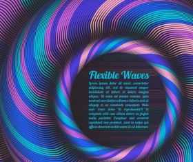 Flexible waves cricles abstract background vector 01
