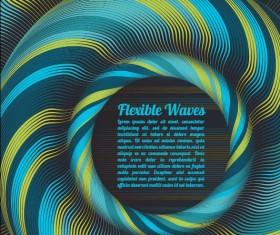 Flexible waves cricles abstract background vector 02