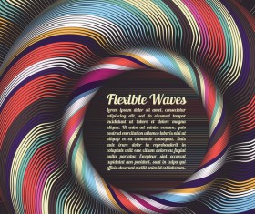 Flexible waves cricles abstract background vector 03