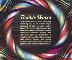 Flexible waves cricles abstract background vector 05