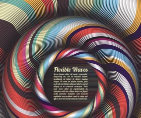 Flexible waves cricles abstract background vector 06
