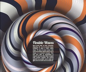 Flexible waves cricles abstract background vector 10