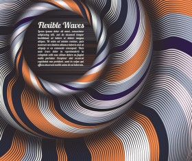 Flexible waves cricles abstract background vector 11
