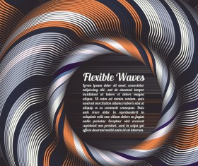 Flexible waves cricles abstract background vector 13