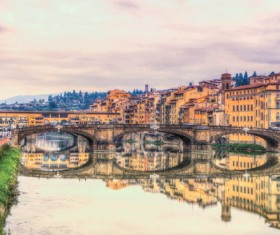 Florence Arno River Stock Photo