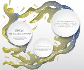 Flow with scatter paints and modern background vector 05