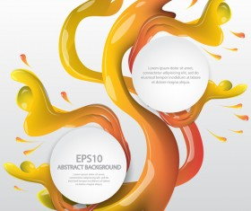 Flow with scatter paints and modern background vector 06