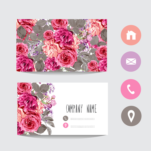 Flower business card image collections business card for Flower business cards