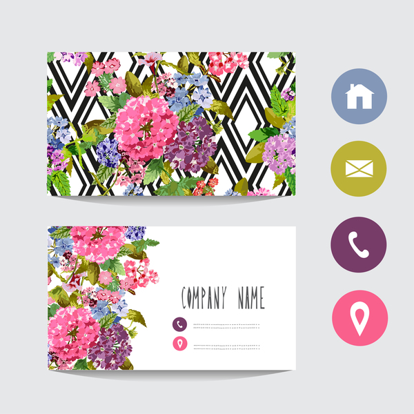 Flower business card template with society icons vector 10 flower business card template with society icons vector 10 cheaphphosting Image collections