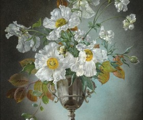 Flower oil painting HD picture