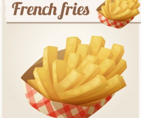French fries vector illustration 02