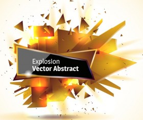Golden explosion debris abstract background vector 02