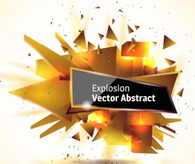 Golden explosion debris abstract background vector 03