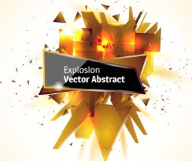 Golden explosion debris abstract background vector 04