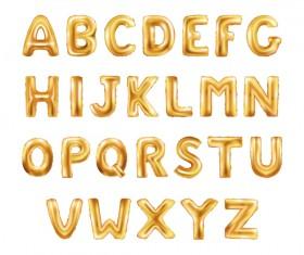 Golden font vector material