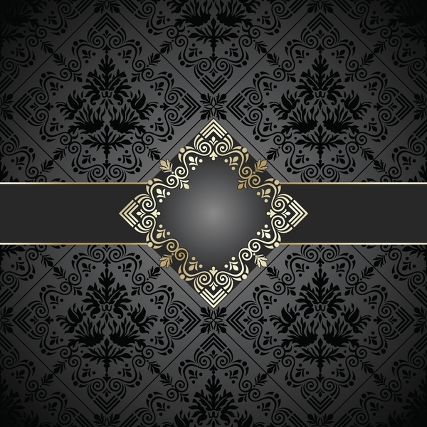 Black Book Cover Backgrounds : Golden frame with luxury dark background vector free