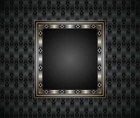 Golden frame with luxury dark background vector 08