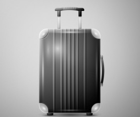 Gray Trolley case vector illustration