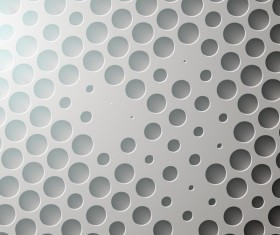 Gray abstract circles vector background