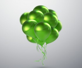 Green balloon background vector illustration 01
