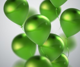 Green balloon background vector illustration 02