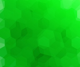 Green blurs background with hexagon vector