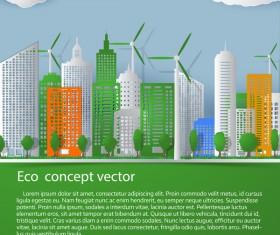 Green city template vectors material 02