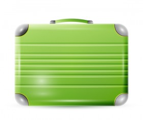 Green polycarbonate suitcase vector material 02