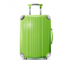 Green polycarbonate suitcase vector material 03