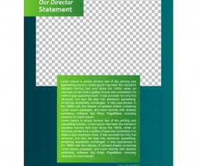 Green styles cover brochure template vectors set 02