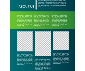 Green styles cover brochure template vectors set 03