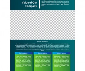 Green styles cover brochure template vectors set 04
