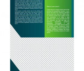 Green styles cover brochure template vectors set 06