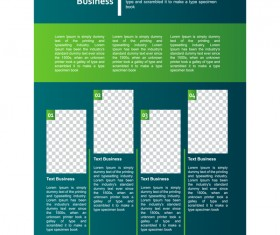 Green styles cover brochure template vectors set 07