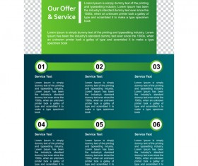 Green styles cover brochure template vectors set 08