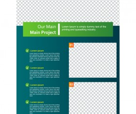 Green styles cover brochure template vectors set 09