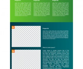 Green styles cover brochure template vectors set 10