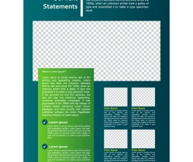 Green styles cover brochure template vectors set 11