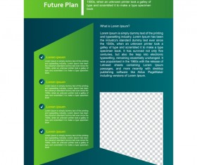 Green styles cover brochure template vectors set 12